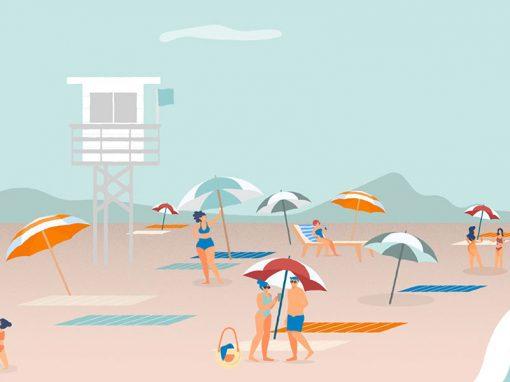 Vídeo de animación explicativo Safe Beach
